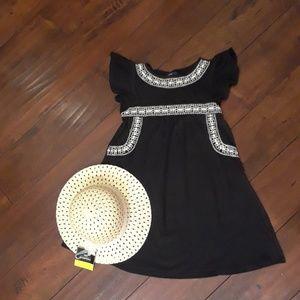 GAP kids black Mexican style Dress sz 8
